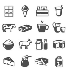 dairy products set foods made from milk vector image