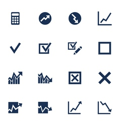 Diagram icons vector image