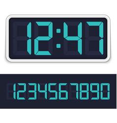 Digital alarm clock vector