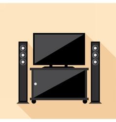 Digital hi-fi audio system with monitors vector