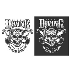 Diving apparel design vector