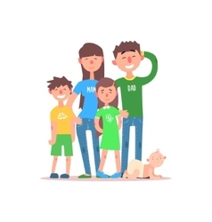 Family with Parents Wearing Jeans vector image