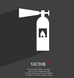 Fire extinguisher icon symbol flat modern web vector
