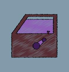 Flat icon design collection car door in hatching vector
