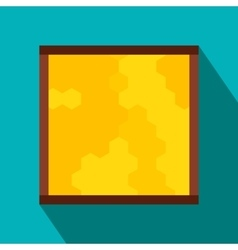 Frame with honecombs flat icon vector