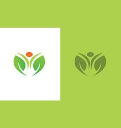 geen flower logo vector image