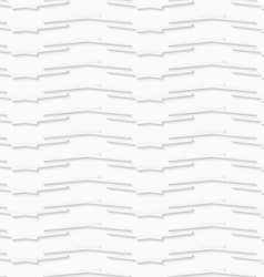 Geometrical pattern with white lines on white vector image