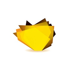 Glass shard orange vector image