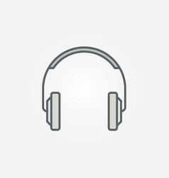 headphones simple icon or logo vector image