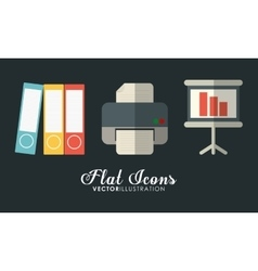 Icon set Office Instrument design graphic vector