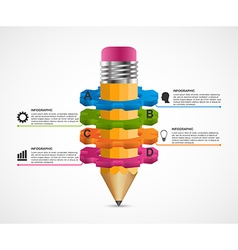 infographics for presentations in education vector image