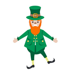 irish st patrick leprechaun character vector image