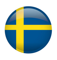 isolated flag of sweden vector image