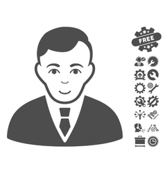 Manager Icon With Tools Bonus vector