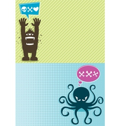 Monster Backgrounds vector