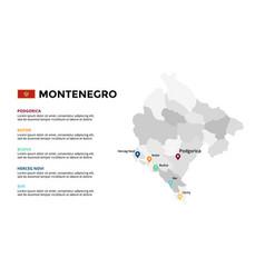 montenegro map infographic template slide vector image