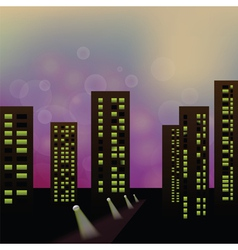 Morning city vector