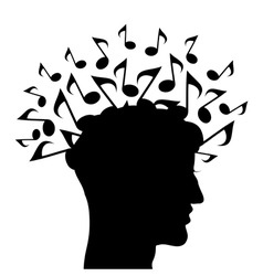 musical head vector image vector image