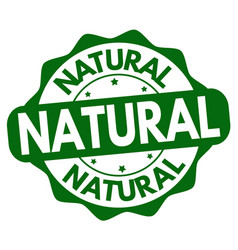 natural label or sticker vector image