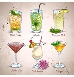 New Era Drinks Coctail Set vector