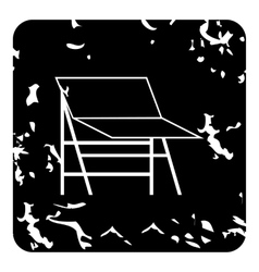 Photo studio screen icon grunge style vector