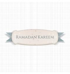 Ramadan Kareem realistic Banner with Ribbon vector