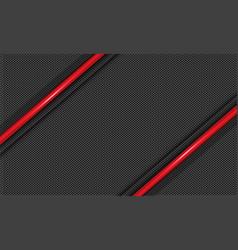 red line metallic slash on grey circle mesh vector image