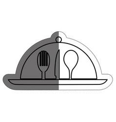 Restaurant emblem design vector