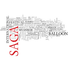 Saga word cloud concept vector