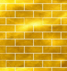 Seamless pattern of Golden bricks vector