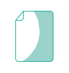 Sheet of paper with a bent corner vector