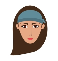 single woman with long hair icon vector image