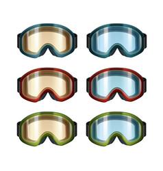 Ski snowboard goggles vector