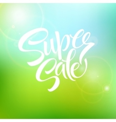 Super sale tag banner vector image