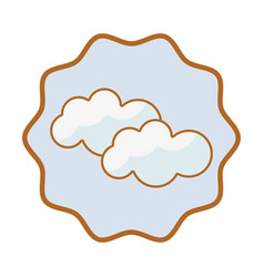 Symbol beauty clouds weather sky vector