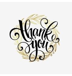 Thank you golden lettering design vector