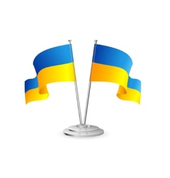 Ukraine table flag isolated vector image