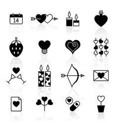 Valentine icon set vector
