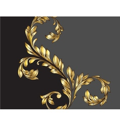 vintage gold floral background vector image