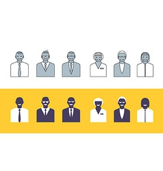 Business people simple avatars collection vector image