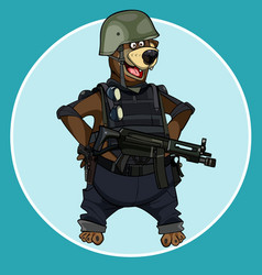 cartoon bear standing with arms akimbo vector image