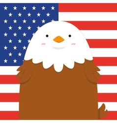 cute big fat eagle vector image vector image