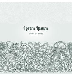Henna Flowers Mehndi Element vector image vector image