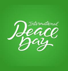 International peace day - hand drawn brush vector