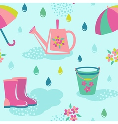 Rainy weather seamless pattern vector image vector image