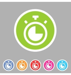 Timer stopwatch clock icon flat web sign symbol vector image
