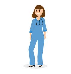 doctor pediatrician in hospital flat design vector image vector image