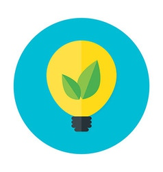 Eco idea flat circle icon vector image vector image