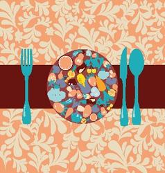 Healthy Food icons set vector image vector image