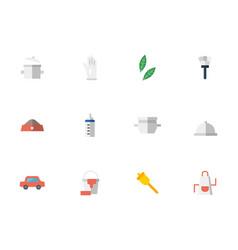 housework staff flat icons set vector image